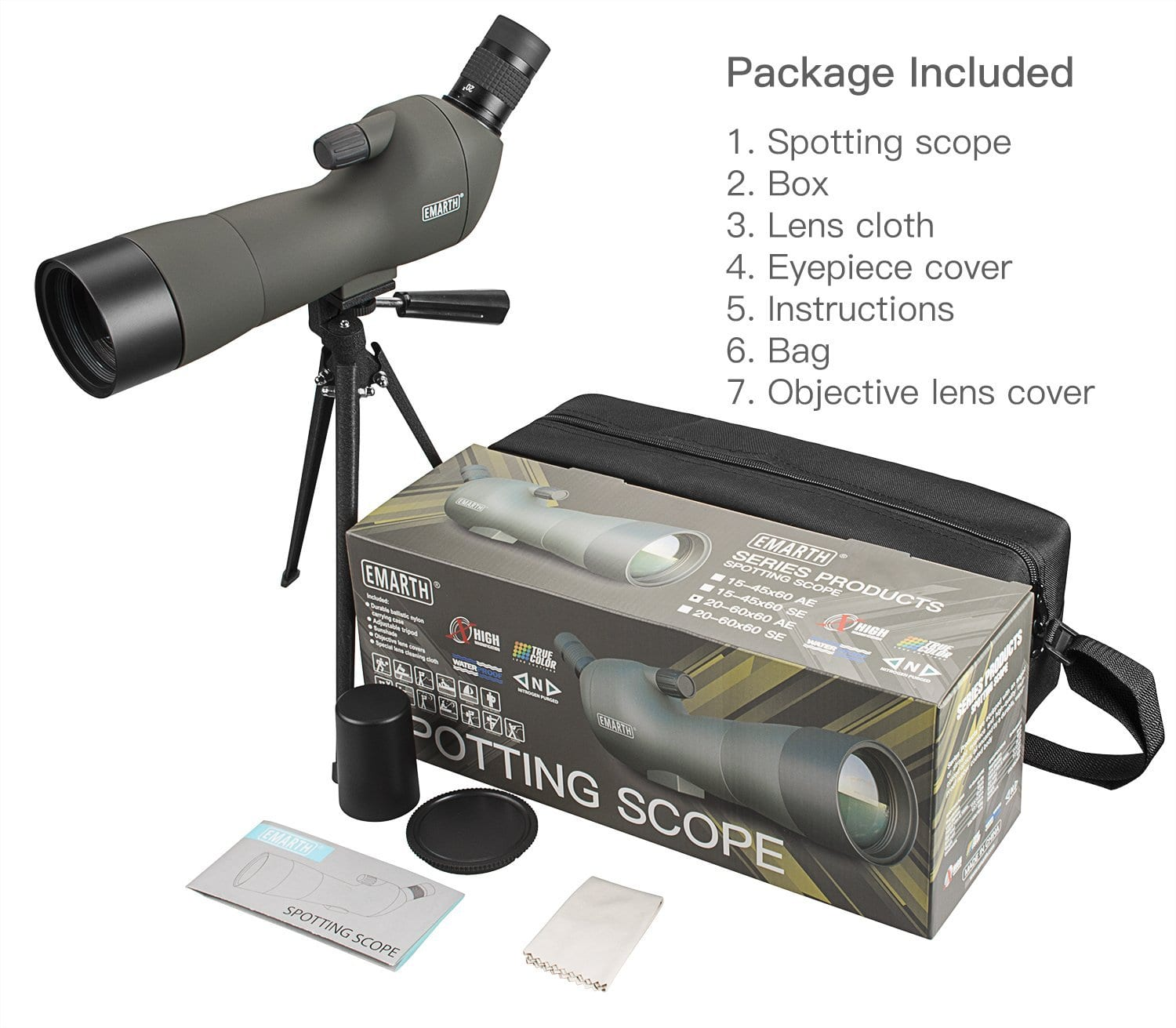 Emarth 20-60x60 AE Waterproof Spotting Scope